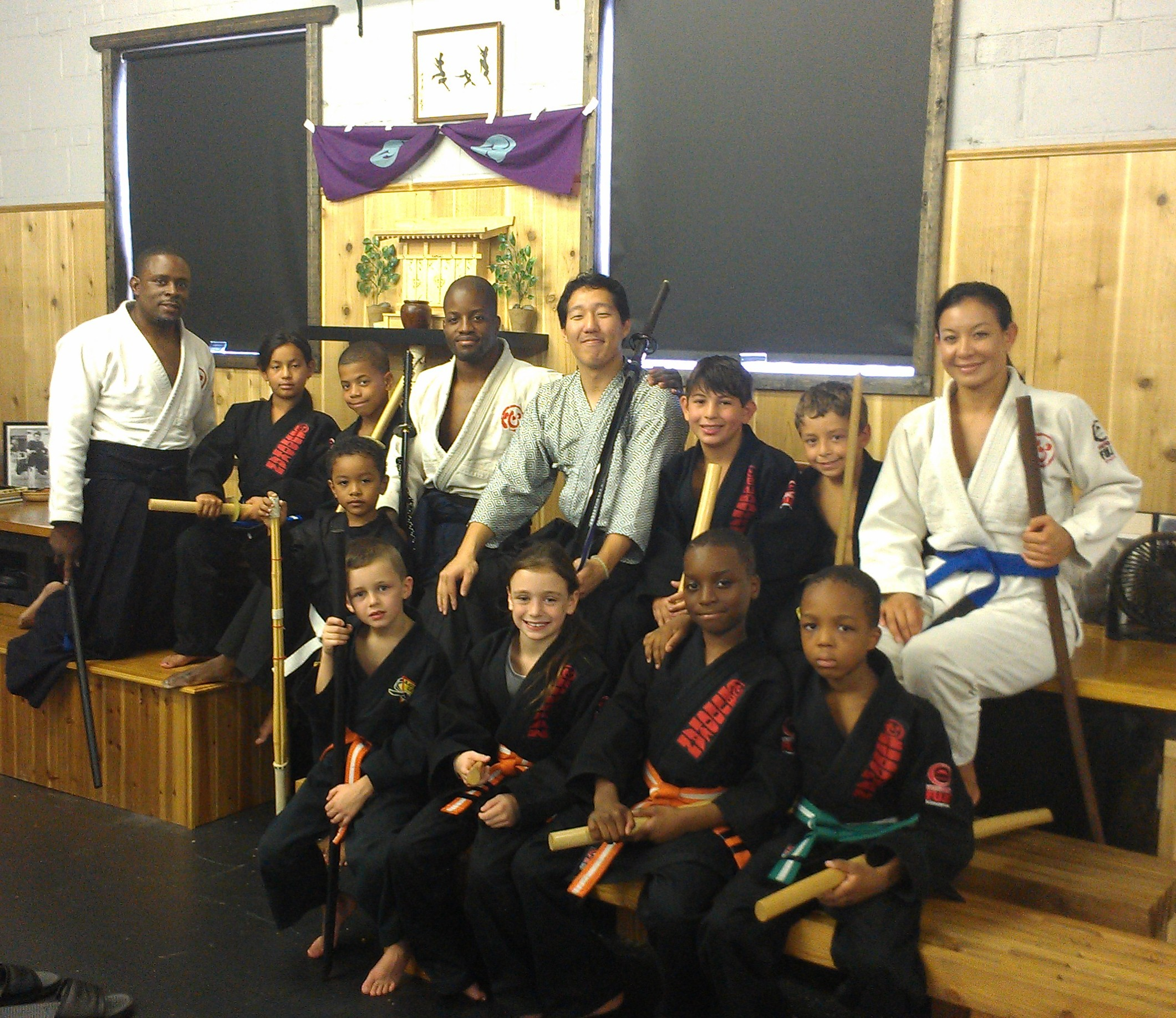 The Budokan Summer camp crew each got a chance to cut with the guidance of ...